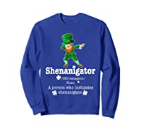 Saint Paddy S Dabbing Shenanigator St Patrick S Day T Shirt Sweatshirt Royal Blue