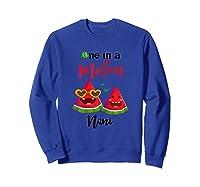 One In A Melon Nani Watermelon Summer Gifts Shirts Sweatshirt Royal Blue