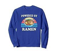 Powered By Ra Funny Retro Ra Noodles Gift Shirts Sweatshirt Royal Blue