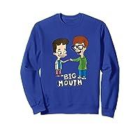 Netflix Big Mouth Fist Pump Shirts Sweatshirt Royal Blue