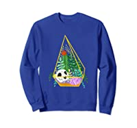 Pastel Goth Geometric Terrarium Skull, Crystals & Succulents Shirts Sweatshirt Royal Blue