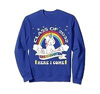 Studen Tshirt Class Of 2032 Grow With Me Unicorn Girl T-shirt Sweatshirt Royal Blue