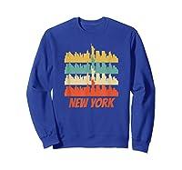 Retro New York City Skyline Pop Art Shirt Sweatshirt Royal Blue