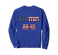 Ex Potus 8645 Anti Trump Distressed Pro Impeach 45 Tshirt Sweatshirt Royal Blue
