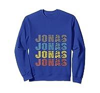 Jonas First Given Name Pride Funny T Shirt Sweatshirt Royal Blue