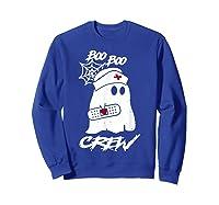 Boo Boo Crew Nurse Ghost Funny Halloween Costume Gift T-shirt Sweatshirt Royal Blue