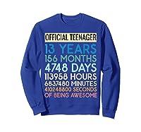 Nager Vintage 13 Years Birthday N Gifts Shirts Sweatshirt Royal Blue