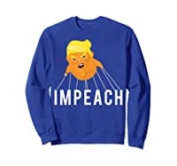 Donald Trump Baby Blimp Impeach T Shirt Sweatshirt Royal Blue