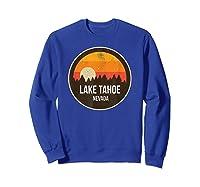 Vintage Retro Lake Tahoe Nevada Shirts Sweatshirt Royal Blue