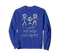 Happy Parents' Day Drawing Funny Shirts Sweatshirt Royal Blue