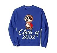 Sloth Class Of 2032 Back To School Gift Shirts Sweatshirt Royal Blue