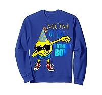 Cool Dancing Dabbing Emoji Mom Of Birthday Boy Party Shirts Sweatshirt Royal Blue