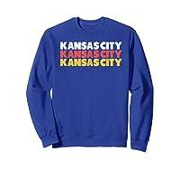Retro Red Yellow W Cool Kansas City Design Shirts Sweatshirt Royal Blue