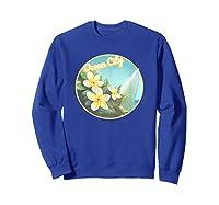 Ocean City Maryland Surfing Flower T Shirt Sweatshirt Royal Blue