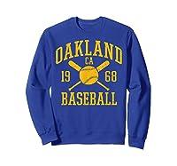 Oakland Baseball Vintage Oak Pride Retro Distressed Gift Shirts Sweatshirt Royal Blue