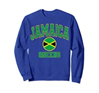 Ny Varsity Style N Flag Circle T Shirt Sweatshirt Royal Blue