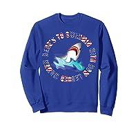Shark Bow Legged Funny Shirt Sweatshirt Royal Blue