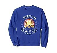 August Girl The Soul Of A Gypsy T Shirt August Girl Birthday Premium T Shirt Sweatshirt Royal Blue