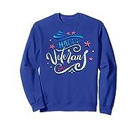 Happy Veteran's Day Patriot Military Memorial Gift Tee Premium T-shirt Sweatshirt Royal Blue