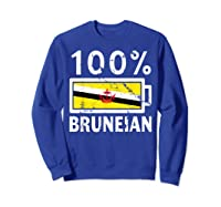 Brunei Flag T Shirt 100 Bruneian Battery Power Tee Sweatshirt Royal Blue