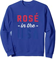 Rose In The Usa Cute 4th Of July T-shirt Sweatshirt Royal Blue