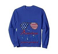 All American Mom 4th Of July Sunglasses Matching Family Tank Top Shirts Sweatshirt Royal Blue