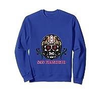 San Francisco Football Helmet Sugar Skull Day Of The Dead T Shirt Sweatshirt Royal Blue