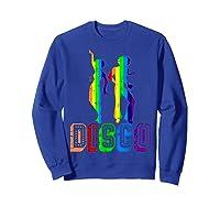 1970s Disco Dancers Vintage Rainbow 1970's Gift Shirts Sweatshirt Royal Blue