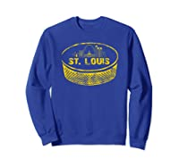 Retro St Louis Missouri Arch Cityscape Hockey Vintage Shirts Sweatshirt Royal Blue