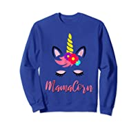 Mamacorn T Shirt Cute Funny Unicorn Gift For Mothers Day Mom Sweatshirt Royal Blue