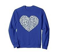 Heart Of Skulls Funny Valentine S Day T Shirt Sweatshirt Royal Blue