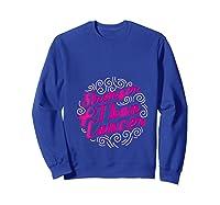 Stronger Than Cancer Pink Ribbon Breast Cancer Awareness T Shirt Sweatshirt Royal Blue