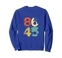 86 45 Retro 70s Vintage Anti Trump 8645 Impeach Lock Him Up Tank Top Shirts Sweatshirt Royal Blue