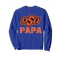 Oklahoma State Cow My Favorite Name - Papa T-shirt Sweatshirt Royal Blue