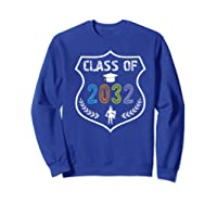2019 Class Of 2032 Grow With Graduation First Day Of School Shirts Sweatshirt Royal Blue