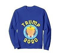 Funny Unicrontrump 2020 Election Usa Flag Republican Gift T Shirt Sweatshirt Royal Blue