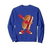 Dabbing Hot Dog Art Cool American Hot Dog Sandwich Gift Tank Top Shirts Sweatshirt Royal Blue