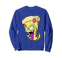 Pepperoni Pizza Monster Gift Shirts Sweatshirt Royal Blue