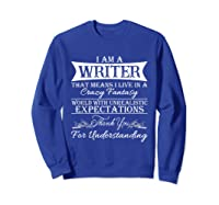 I M A Writer Gift For Authors Novelists Literature Shirt Sweatshirt Royal Blue