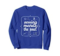Sewing Ds The Soul Sewing Quilting T Shirt For  Sweatshirt Royal Blue