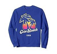 Coco Beach Florida City Native S Gift Shirts Sweatshirt Royal Blue
