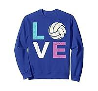 And A Volleyball Shirts Sweatshirt Royal Blue