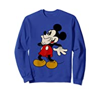 Disney Mickey Mouse Giggle T Shirt Sweatshirt Royal Blue