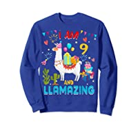 I Am 9 Years Old Zing Cute 9th Birthday Gift T-shirt Sweatshirt Royal Blue