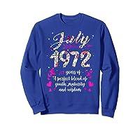 1972 47th Birthday Gift 47 Years Old Shirts Sweatshirt Royal Blue