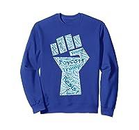 Resist Fist Anti Trump Boycott Impeach Trump T Shirt Sweatshirt Royal Blue