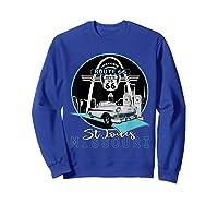 Saint Louis Missouri Route 66 Iconic Gateway Arch Souvenir T-shirt Sweatshirt Royal Blue