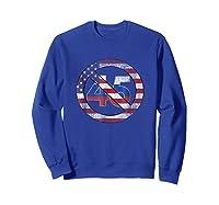 Impeach 45 Flag Themed Anti Trump Impeach Trump Shirt Sweatshirt Royal Blue