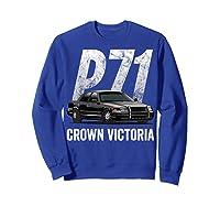 Police Car Crown Victoria P71 Shirt Sweatshirt Royal Blue