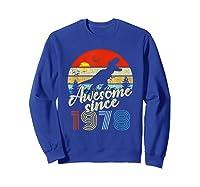 Dinosaur 41st Birthday Gifts Awesome 1978 41 Yrs Old Shirts Sweatshirt Royal Blue
